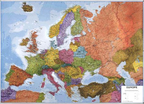 Nastenna Mapa Evropa Originalni Mapy